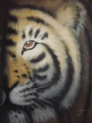 abstract wild animal tiger large oil painting canvas modern contemporary art