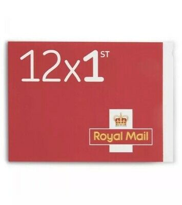 Royal Mail 1st class Stamps Booklet of 12 Letter Stamps - New. Unused.