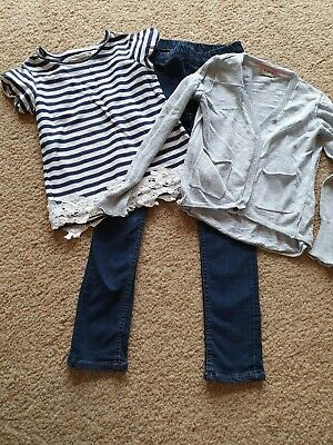 Girls Outfit Bundle 7-8 Years - Jeans Shirt and Cardigan From Next