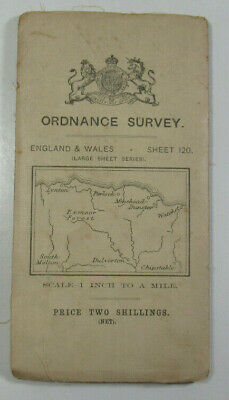 1912 Old OS Ordnance Survey Third Edition One-Inch Map Large Sheet 120 Exmoor