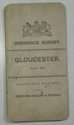 1904 Old OS Ordnance Survey Third Ed One-Inch Map Small Sheet 234 Gloucester