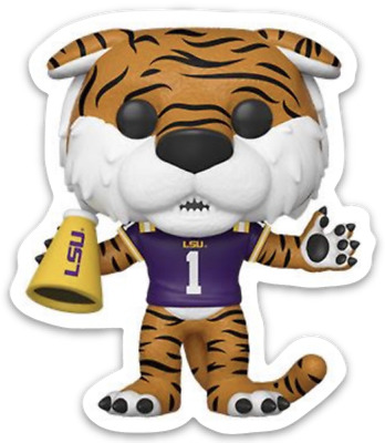 LSU Louisiana State University Mike the Tiger Mascot Bobblehead Type Magnet #1