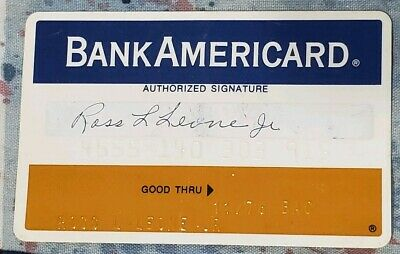 BankAmericard Bank of the Southwest TX Credit Card exp 76♡Free Shipping♡cc120
