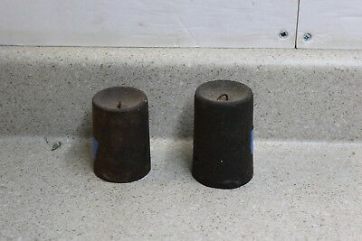 Early Ogee Matched Cast Iron Clock Weights Manross Boardman  Seth Thomas 15