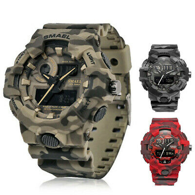 SMAEL Army Military Waterproof Sport Men's LED Quartz Analog Digital Wrist Watch