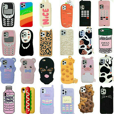 Case For iPhone 6 7 8 Plus XR XS 11 Pro Max Covers Cute 3D Cartoon Silicone Kids