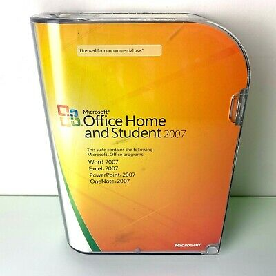 Microsoft Office 2007 Home and Student PC User License Word Excel PowerPoint