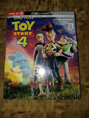 Toy Story 4 (4K Ultra HD + Blu-ray + Digital) W/Slipcover - New LIMITED EDITION