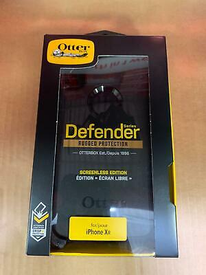 Otterbox Defender For iPhone XR Black Case With Belt Clip Holster