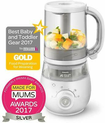 Philips Avent 4-in-1 Healthy Baby Food Maker Steamer Blender Defrost Reheat New