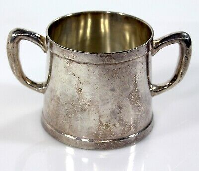Grand Silver Co. Wear-Brite Hotel Nickel Silver Double-Handled Open Sugar Bowl