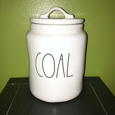 "New RAE DUNN Holiday Christmas LL ""COAL"" 7.5"" Canister By Magenta"
