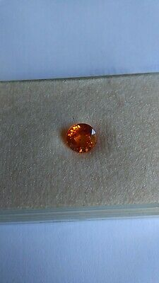 RARE EXCEPTIONNEL SAPHIR ORANGE 1 carat 80 ROND