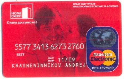 Russia MasterCard Credit Card Electronic HOME CREDIT & FINANCE BANK