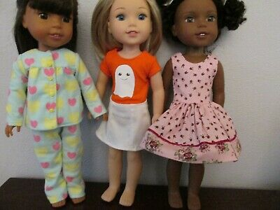 "3 Outfits for Wellie Wisher  14""Doll--O203"