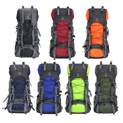 60L Camping Travel Rucksack Waterproof Sports Outdoor Backpack Hiking Large #S5