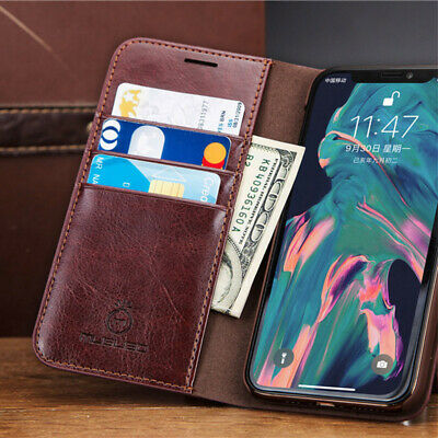 For iPhone 11 Pro XS MAX XR 8 100% Genuine Musubo Leather Wallet Card Case Cover