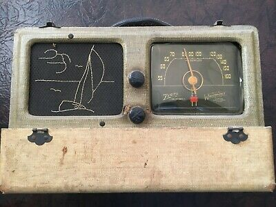 1941 Zenith 6G601D Clipper AM Portable AC/Battery Tube Radio For Restoration