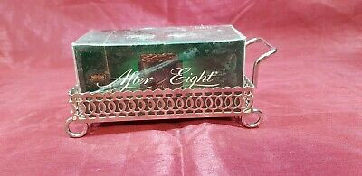 A Very Elegant Silver Plated After 8 Holder With Pierced Patterns.