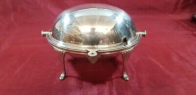 An Antique Silver Plated Roll Top Breakfast Dish By William hutton.sheffield.