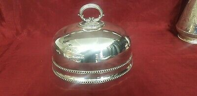 An Antique Victorian Silver Plated Food Cloche With Elegant Patterns.