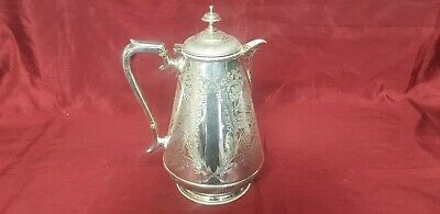 An Antique Silver Plated tea pot With beautiful Engraved Patterns by mackay brs.