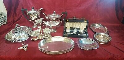 A Beautiful Job Lot Of Antique/vintage Silver Plated Items.many Makers Names.