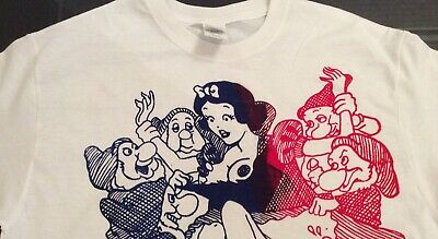 Seditionaries SNOW WHITE & SIC PUNKS TSHIRT Dwarf Org* ADULT punk print Sm - Med