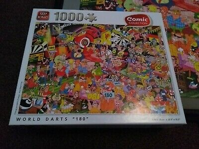 King Comic Collection World Of Darts 1000 Piece Jigsaw