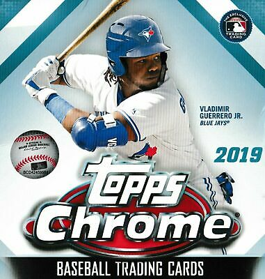2019 Topps Chrome Baseball Complete (200) Card Base Set - Trout Acuna ++ No SP