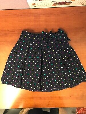 Osh Kosh B'Gosh Corduroy Girls flared Skirt Uniform School Polka Dot 6X Cord