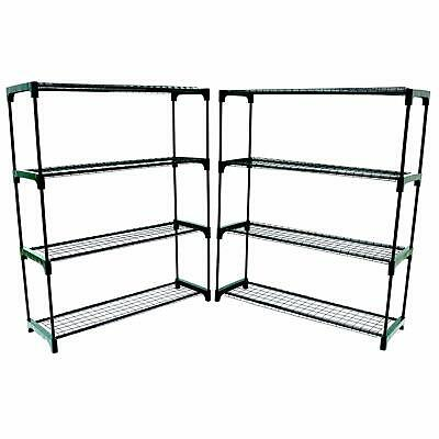 Oypla Flower Staging Display Greenhouse Racking Shelving Double Pack - Free P&P