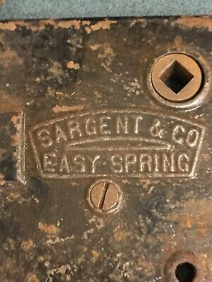 Antique brass face Sargent & Co Easy Spring mortise Pat. Nov. 22, 1915 For Parts
