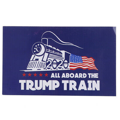 10PCS/set Blue Donald Trump Bumper Sticker 2020 All Aboard The Trump Train FE