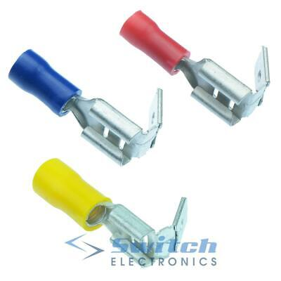 Piggy Back Insulated Crimp Spade Electrical Terminal Piggy Back Red Blue Yellow