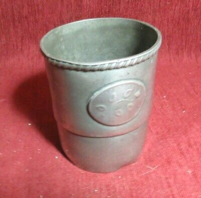 Nice Antique  English Pewter 8 Ounce Sifter Imperial