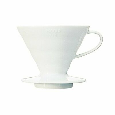 HARIO (Hario) Coffee Dripper V60 02 ceramic white coffee drip 1 to 4 cups for VD