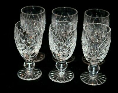 5 Waterford Crystal Donegal Sherry Glasses 4 1/4""
