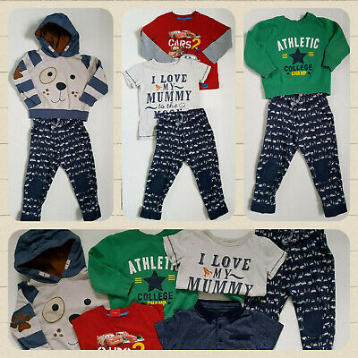 Smart Bundle of 6 Boy Next George Trousers Jumper Tops Age 2-3 Years 98cm