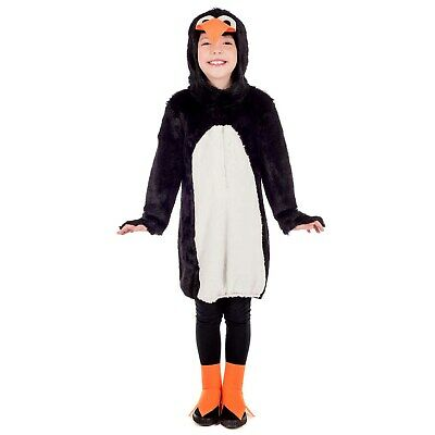 Childrens Penguin Fancy Dress Costume Pingu Arctic Animal Outfit 4-5 Yrs