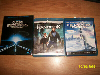 4 Blue Ray Close Encounters of the Third Kind-Hancock-The Day After Tomorrow