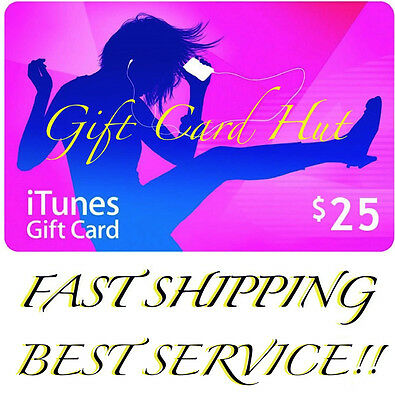Apple $25 iTunes US Dollar Gift Card Voucher Certificate USA USD 100% Genuine
