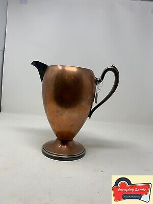 Vintage Academy Silver And Copper Collectible Pitcher Great Condition