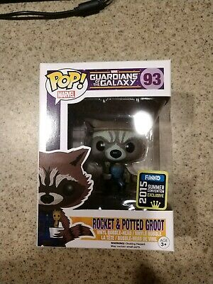 Funko Pop Marvel Rocket & Potted Groot Guardians 93 Convention Exclusive