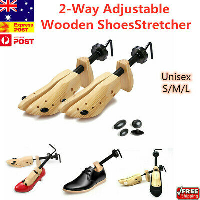 2pcs Wooden Shoes Stretcher 2-Way Adjustable Expander Cedar Tree Unisex NEW