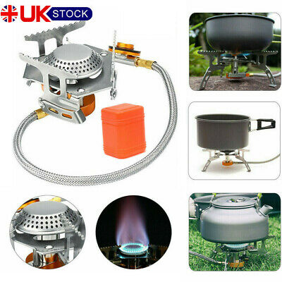 Portable One-piece Outdoor Gasoline Stove Camping Picnic Hiking Burner UK K5C8