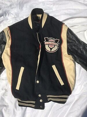 harley davidson letterman jacket 50 years leather mens m large vintage 1903