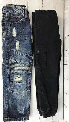 AKADEMIKS AKDMKS Kids Size 6 Distressed Jeans Boys 2 Pair 1 Blue 1 Black