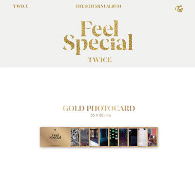 TWICE - 8th MINI ALBUM FEEL SPECIAL GOLD PHOTO CARD MINA SANA MOMO NAYEON DAHYUN