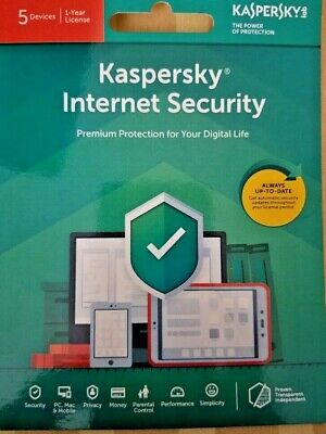 Kaspersky Internet Security 2020 - 5 Devices / 1 Year (Key Card) with Free Ship